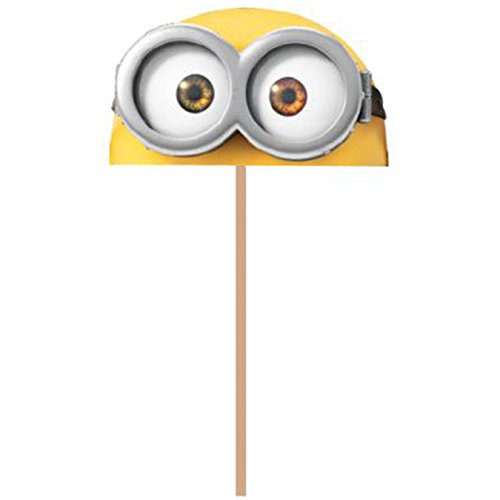 New Wilton 2113-4600 Despicable Me Minions Fun Pix Cupcake Toppers, Pack of 18, Yellow -