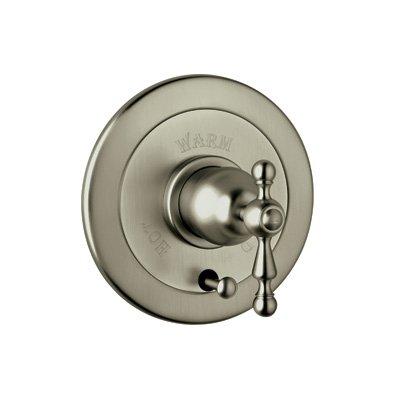 Rohl Volume Control Pressure Balance Trim w/Ornate Metal Lever Handle & Diverter AC700L-STN satin Nickel