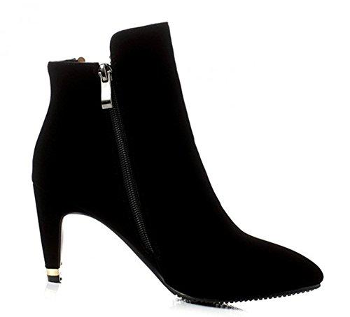 Elegant Aisun Stiletto Ankle Mid Womens Aisun Heel Black Boots Womens qRqnOtg