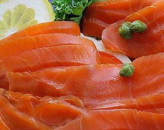 (Two, 1&1/4 pound Sockeye Lox Fillets (Cold Smoked))