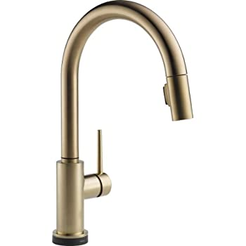 Delta 9159T-CZ-DST Trinsic Single-Handle Pull-Down Touch Kitchen Faucet with Touch2O Technology and Magnetic Docking Spray Head, Champagne Bronze