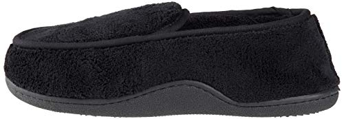 Pictures of ISOTONER Men's Microterry Slip On Slipper A95019BLKLG 5