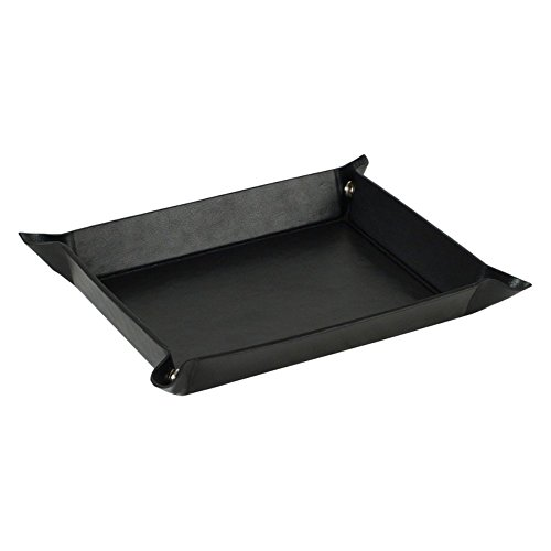 WOLF Heritage Mens Accessories Black Snap Coin Tray - 9.5W x 1.5H in.