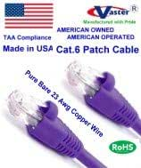 Made in USA 10 Pcs//Pack 23Awg Solid Wire RJ45 Snagless Straight Patch Cable Cat6 Patch Cable Not CCA Wire 100/% Copper Vaster SKU -81975-14 Ft Purple UL CSA CMR ETL