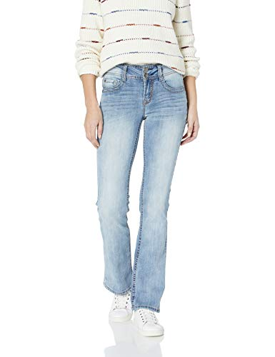 WallFlower Junior's Instastretch Luscious Curvy Bootcut Jeans, Amber, 5