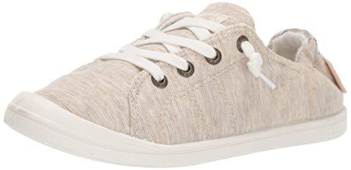 Roxy Women's Bayshore Slip On Sneaker Shoe, New Natural, 9 M US