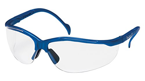 Pyramex Venture Ii Safety Eyewear, Clear Lens With Metallic Blue Frame