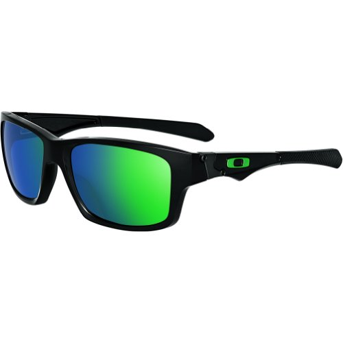 Oakley Mens Jupiter Squared Sunglasses, Polished Black/Jade Iridium, One - Polarized Squared Jupiter