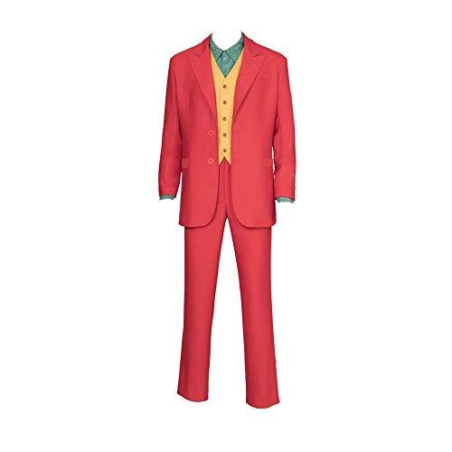 COSSHOW Joker Cosplay Movie Joaquin Phoenix Arthur Fleck Halloween Costume Custom Made]()