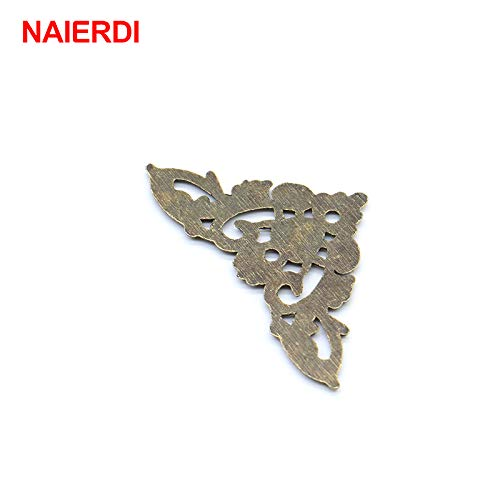 TOLOVI 4PCS NAIERDI Bronze Jewelry Box Book Butterfly Corner Bracket Antique Frame Accessories Notebook Menus Decorative Protector