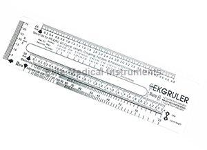 EMI EKG Ruler # 422 Pocket Reference Guide