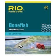 Rio Fly Fishing Bonefish Knotless 10' 8.8Lb 4kg 3PAK Fishing Leaders, Clear