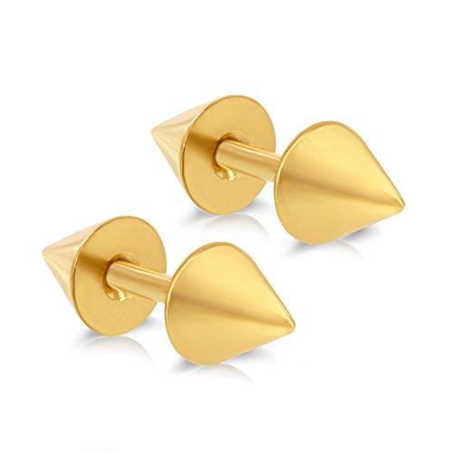 Jewelry Stainless Steel Mens Womens Girls Earrings Ear Piercing Spike Plugs by AceLay (Image #2)