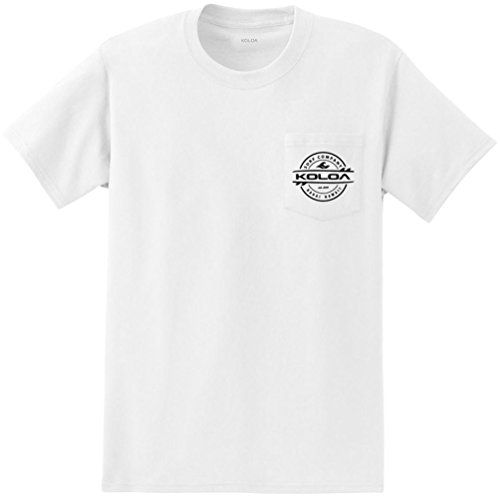 - Joe's USA Koloa Pocket T-Shirts 2 Sided Thruster Logo Tees-White/b-2XL