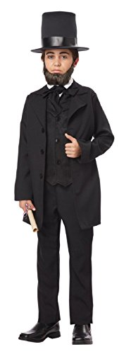 California Costumes Abraham Lincoln/Andrew Jackson Child Costume, Large