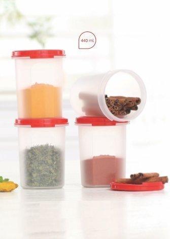 Buy Tupperware Plastic Container Set 440ml Set Of 4 White Online