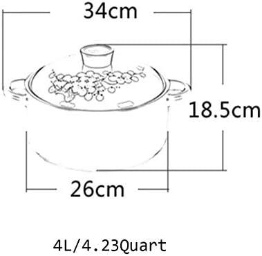 LEILEI Cocotte Ronde en céramique avec Couvercle,Motif de Fleur Fait à la Main marmite en Terre Cuite Pot en Terre Cuite à l'oignon Pot à Soupe pour Cuisson Lente Vert 4.23Quart