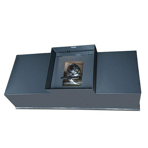 Hollon B6000 Floor Safe in Gray with Combination Dial Lock