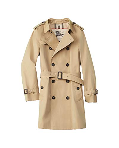 Burberry Girls Wiltshire Trench Coat, 10Yr, Brown