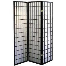 (Coaster Oriental Style 4-panel Room Screen Divider, Black Framed (Black, 3 Panel))