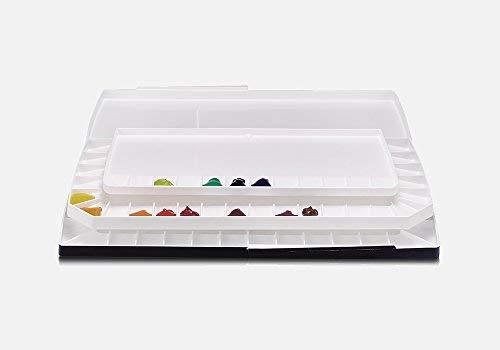 Mijello Watercolor Palette MWP-1752 Triple Decker 52 Wells 370x180x30mm (14.56 x 7.08 x 1.18 inch)