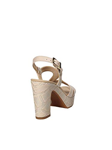 Donna Beige Valleverde Sandalo 32511 Tacco Cw7Pvq