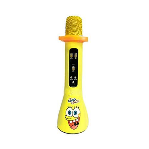 Kaiyitong Karaoke, Children's Wireless Bluetooth Condenser Microphone Speaker Audio, Yellow (Color : Yellow)