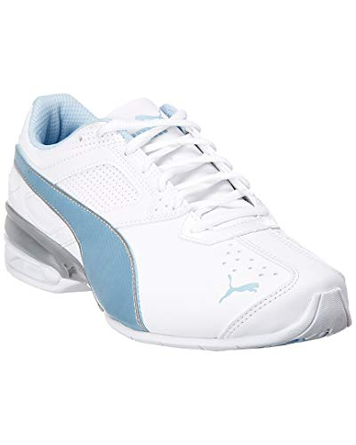 PUMA Women's Tazon 6 FM Sneaker, White-Cerulean Silver, 8 M US