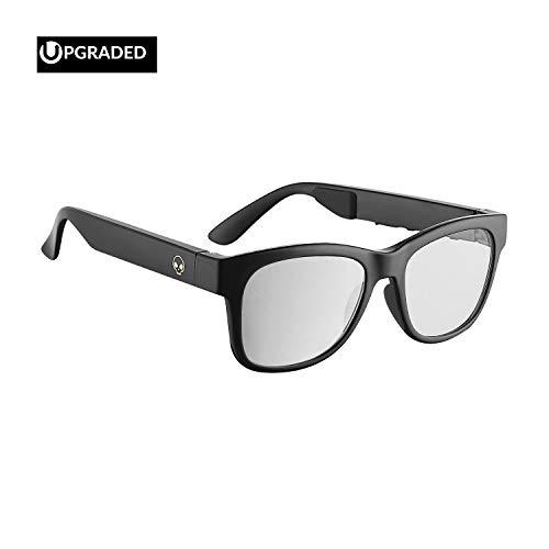 Horizon Outdoor Alien 5 Bone Conduction Glasses Wireless Bluetooth 4.1 Headphones Polarized Sunglasses Myopia Waterproof Wireless Headset for iOS Android Brilliant Black (Frame&Lens ()