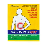 Salonpas Hot (Capsicum Patch /1-ct) - 5.12 X 7.09 Inch (Pack of (Salonpas Hot Capsicum Patch)