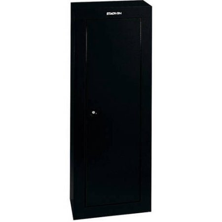 Stack On GCB-908 DS 8 Gun Firearms Steel Security Plus Safety Storage Cabinet with Locking System - Black
