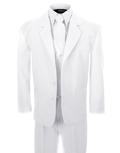NEW Formal Suit Set WHITE for Boys Baby to Teen (Gino Formal Suit Set)