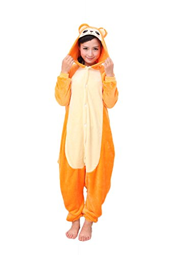 vimans Ladies Yellow Night Suit Pajamas Sets for Adults Cosplay Monkey Onesie, L