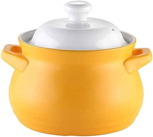 Kitchen Pots, Steamers, Stock & Pasta Pots Large Capacity Non-Stick Soup Pot Health Clay Pot Stone Cooker Made of Earthenware for Families Ceramic stew LLCC