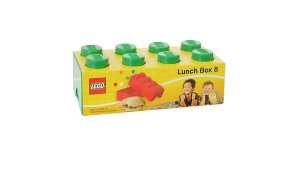 Caja de almuerzo de ladrillo Lego 8 - Verde. Bolsa para el almuerzo tamaño H7.5, W20, D10 cm.: Amazon.es: Hogar