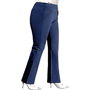 ABCWOO Women's Plus Size Dressy Work Pants for Office,Slimming and Stretchy 23
