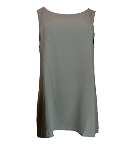 Eileen Fisher Boat Neck Sleeveless Silk Shell, Size-M