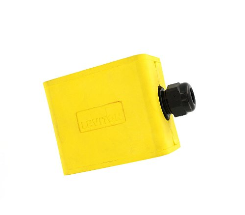 Cable Pendant Assembly - Leviton 3059-1Y Portable Outlet Box, Sing-Gang, Standard Depth, Pendant Style, Cable Diameter 0.230-Inch 0.546-Inch, Yellow