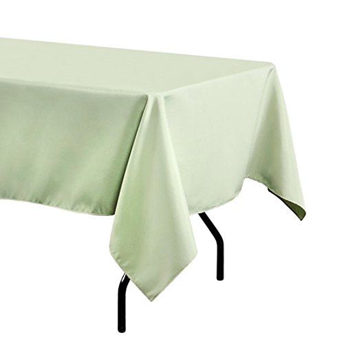 LinenTablecloth 60 x 102 in. Rectangular Polyester Tablecloth Reseda