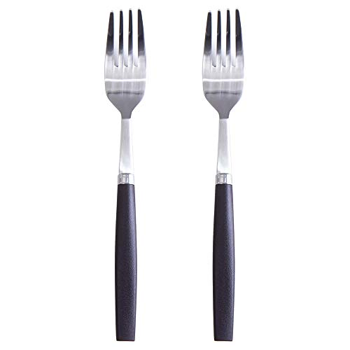Funnitial Perfectgrip Cutlery Flatware 2-piece Dinner Fork Set 18-8 stainless steel PC Handle ()