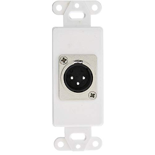(GOWOS Decora Wall Plate Insert, White, XLR Male to Solder Type)