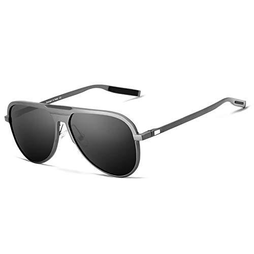 Sol Sol G9828 Hombres de Sol E KOMNY Hombres Mujeres Espejo de HD Hombres para de Clásica UV400 Unisex Gafas Oculos de Polarizado Gafas B Aluminio Marca xOgpY