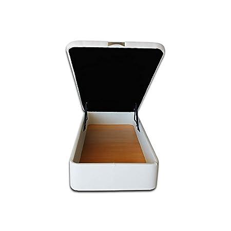 Ventadecolchones - Canapé Modelo Serena Gran Capacidad tapizado en Polipiel Blanco Medidas 135 x 190 cm: Amazon.es: Juguetes y juegos
