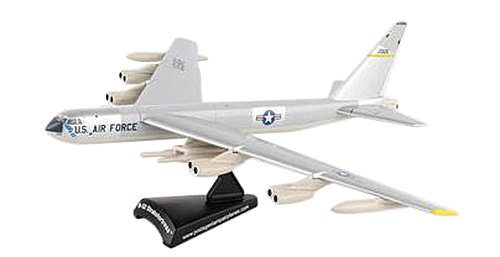 Daron Worldwide Trading Postage Stamp USAF B-52 Stratofortress 1/300 Silve Airplane Model