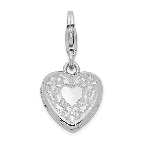 925 Sterling Silver Heart Wings Lobster Clasp 12mm Photo Pendant Charm Locket Chain Necklace That Holds Pictures Fine Jewelry For Women Gift - Jewlery Holder Picture Frames