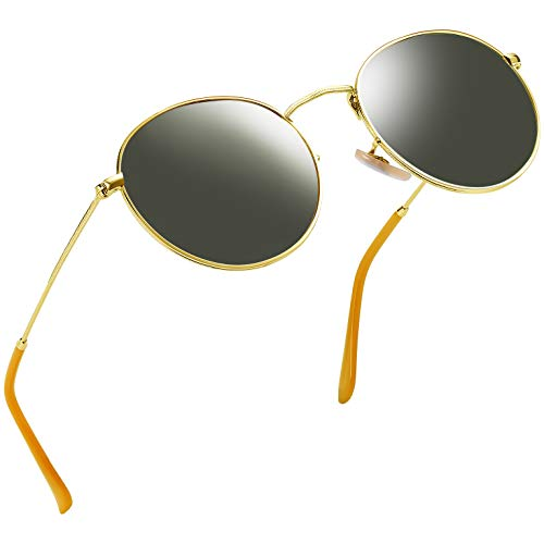 Joopin Vintage Round Sunglasses for Women Retro Brand Polarized Sun Glasses E3447 (Dark Green)]()