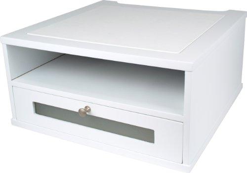 Victor Wood Monitor Riser, W1175 (Pure White)