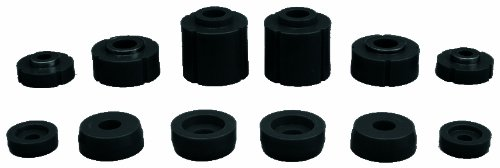 Prothane 6-108-BL Black Body and Cab Mount Bushing Kit - 12 Piece