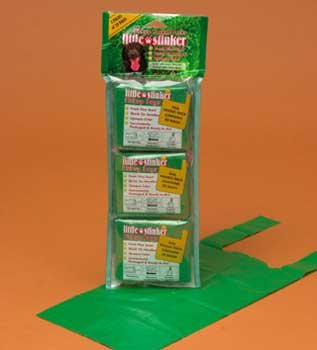 UPC 715764661007, Precision Pet Products Little Stinker Pickup Pocket Packs for Dogs, 3-Pack, 20 bags per Pack, Opaque Green