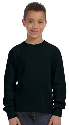 Fruit of the Loom Youth 5 oz., 100% Heavy Cotton HD Long-Sle